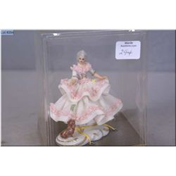 Vintage Dresden lace drape doll number 601 made in West Germany, never removed from box