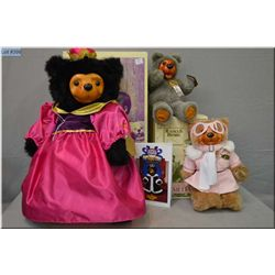 """Three Robert Raikes bears including new in box limited edition 22"""" Queen Mary from The Royal Court C"""