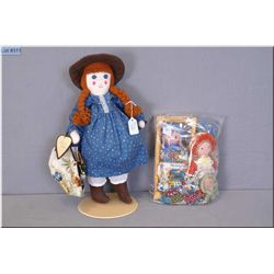 A selection of vintage stuffed dolls including hand made Anne Shirley dolls, boxed Holly Hobby dolls