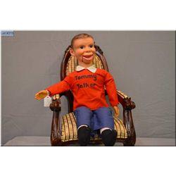 "Vintage Regal Toys 26"" Tommy Talker ventriloquist dummy doll"