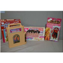 Three new in package vintage toy sets including Tyco Quints, Galoob Golden Girl and the Guardians of