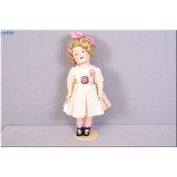 """18"""" Ideal composition Shirley Temple doll, no cracking, no crazing, beautifully coloured with vintag"""