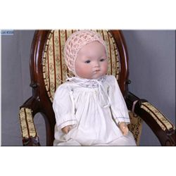 """15"""" Armand Marseille 341 baby doll with excellent bisque head, no cracks, no hairlines on cloth body"""