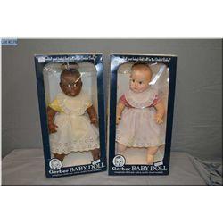 """Two boxed 17"""" Gerber babies circa 1979 made by Atlanta Novelty"""