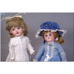 """Two antique bisque head dolls including 11 1/2"""" Armand Marseille 1894 with bisque head, sleep eyes o"""