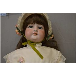 """34"""" Armand Marseille -16- bisque head doll on composition body with sleep eyes, open mouth, good bis"""