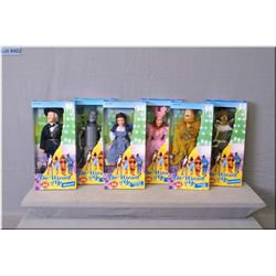 """Six new in box """"The Wizard of Oz"""" 50th Anniversary edition dolls by Multi Toy Corp. including Doroth"""