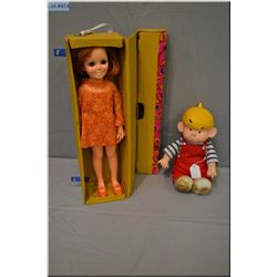"""Vintage 18"""" Ideal Beautiful Crissy doll with original outfit and shoes in original Crissy doll carry"""