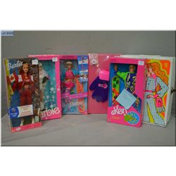 Selection of vintage new in package Barbie dolls including Skating Star Olympic Barbie circa 1988, S