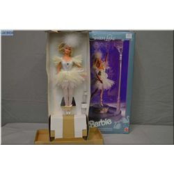 """New in box Musical Ballerina Barbie doll """"Swan Lake"""" with themed case and music box"""