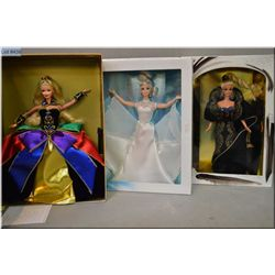 """Three vintage Barbie dolls including limited edition from the Winter Princess Collection """"Midnight P"""