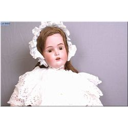 """30"""" J.D. Kestner 171 bisque head doll with brown sleep eyes, open mouth, on restored composition bod"""