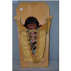 Plastic Inuit doll papoose in carrier made by local Canada native artist from Kamloops. B.C