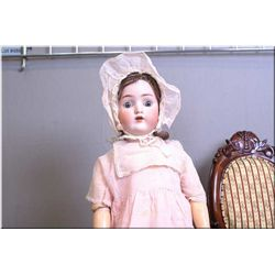 "27"" Alt, Beck Gottschalk 1362 ""Sweet Nell"" bisque head doll on composition body, sleep eyes, sparse"