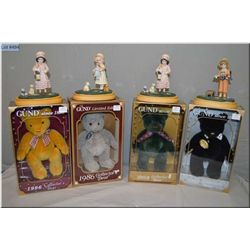 Four new in box Jan Hagara Signature collection figures including Julie, James, Holly and James and