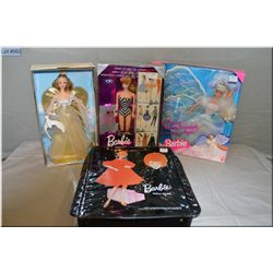 Three new in package Barbie dolls including Angel Princess, Angelic Inspirations 1996 and 35th Anniv