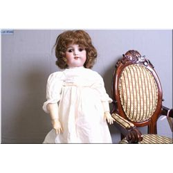 "24"" Simon and Halbig 550 bisque head doll with sleep eyes on compsition body, circa 1910, note missi"