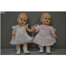 """Two 10"""" Reliable hard plastic baby dolls"""