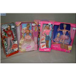 A selection of vintage Barbies including Barbie case, Barbie and Kelly Ballet Recital 1997, Rapunzel