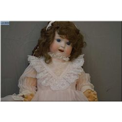 """27"""" Huebach Kopplesdorf baby doll marked 267.8 with bisque head, set glass eyes, open mouth, on comp"""