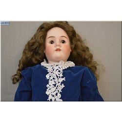 "34"" Hendrick Handwerck/Simon Halbig bisque head doll on composition body, sleep eyes, open mouth. Go"