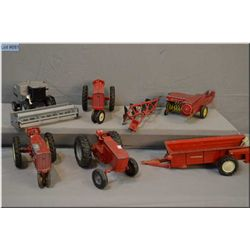 Selection of vintage Ertl tractors