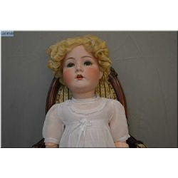 """28"""" Cuno Otto and Dressel bisque head doll with sleep eyes, open mouth, excellent bisque, no cracks,"""