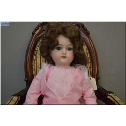 """20"""" German bisque head doll on composition body with sleep eyes, open mouth, good bisque, no cracks,"""