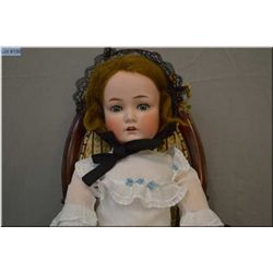 """27"""" Cuno Otto and Dressel bisque head doll with sleep eyes, open mouth on composition body, good bis"""
