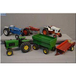 Tonka tractor and wagon, Ertl Ford 4600 etc.