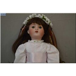 """24"""" German ABG bisque head doll marked 1362 with sleep eyes, open mouth on composition body, good bi"""