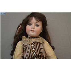 """25"""" Max Oscar Arnold, Welsch Co. bisque doll on composition body with sleep eyes, open mouth, no cra"""