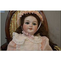 """18"""" SFBJ 301 marked TETE JUMEAU oily bisque head doll on composition body with sleep eyes, open mout"""
