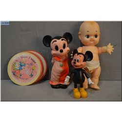 Naked baby, vintage Mickey Mouses, and nursery rhyme records