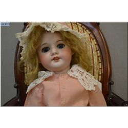 """19"""" SFBJ -60- Paris bisque head doll with sleep eyes, open mouth on composition body, no cracks, no"""