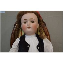 """25"""" Kestner 168 bisque head doll on composition body with sleep eyes, open mouth, no cracks or hairl"""