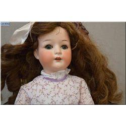 "23"" Heubach Kopplesdorf bisque head doll with high colour, sleep eyes, open mouth, good bisque, no c"