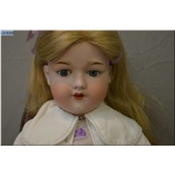 """27"""" Armand Marseille 390 bisque head doll on composition body with sleep eyes, open mouth, good bisq"""