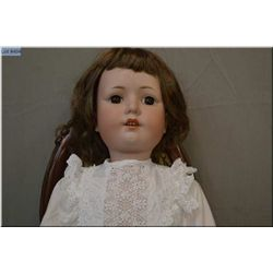 """29"""" Max Oscar Arnold German bisque head doll on composition body with set eyes, open mouth, good bis"""