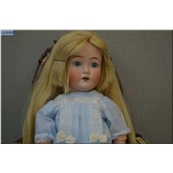 """26"""" Cuno Otto and Dressel bisque head doll with sleep eyes and open mouth on composition body, good"""