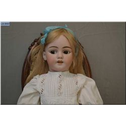 """24"""" Flirty eyed Simon and Halbig bisque head doll on composition body with beautiful brown flirty ey"""