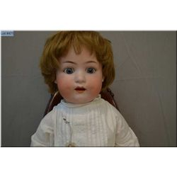 """27"""" Heubach Kopplesdorf 300-12 bisque head baby doll on composition body with sleep eyes, open mouth"""
