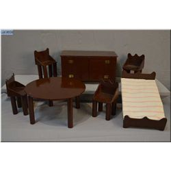 Selection of handmade doll furniture