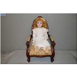 """24"""" Armand Marseille 390 bisque head doll on repainted composition body with set glass eyes, open mo"""