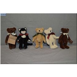 """Five 5"""" Boyds Collections jointed animals, perfect for doll display"""