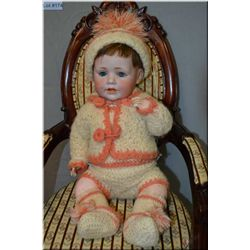 """17"""" Kestner 247 """"Baby Jean"""" bisque head doll with sleep eyes, open mouth on composition baby body an"""