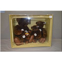 """Set of four Steiff Brown bears in box including 7"""" bear numbered 0160/18, 9"""" bear numbered 0160/26,"""