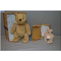 "A boxed Disney "" Just Begun"" Winnie-the-pooh bear 11"" and a boxed Bearington Bear ""Boo"" 5"" bear in d"