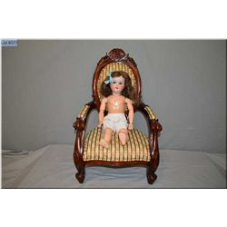 """17"""" Schoneau and Hoffmeister 1909 bisque head doll with sleep eyes, open mouth on composition body."""