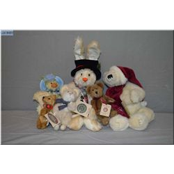 Selection of plus toys including Boyds Collections bears, duck etc.